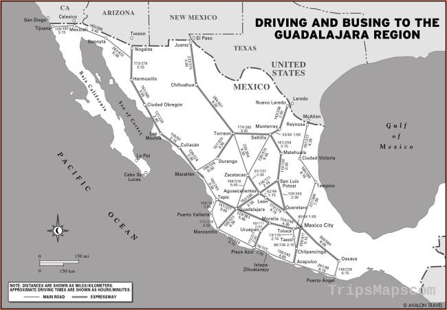 Printable Travel Maps of Guadalajara