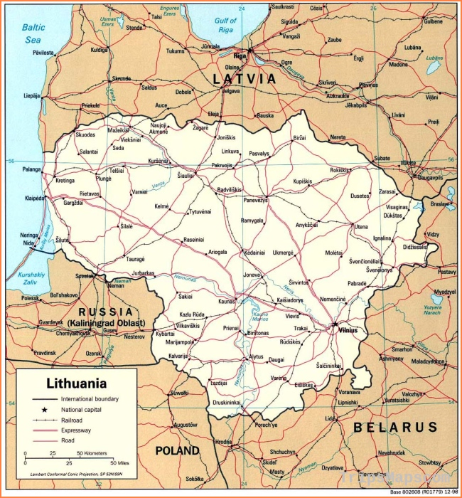 Maps of Lithuania | Detailed map of Lithuania in English