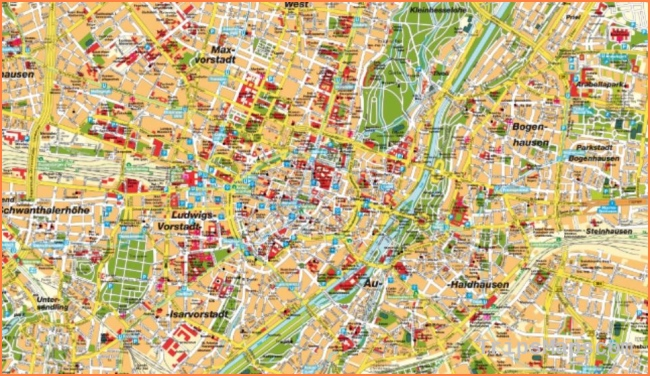 Map of Munich Germany - A city map of Munich