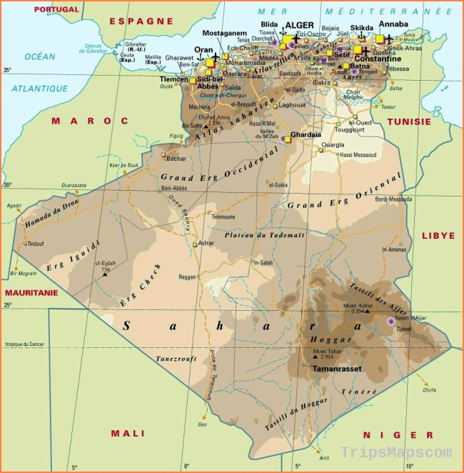 Algeria Maps | Printable Maps of Algeria for Download