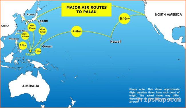 Map Of Palau Where Is Palau Palau Map English Palau Maps For Tourist Travel Map