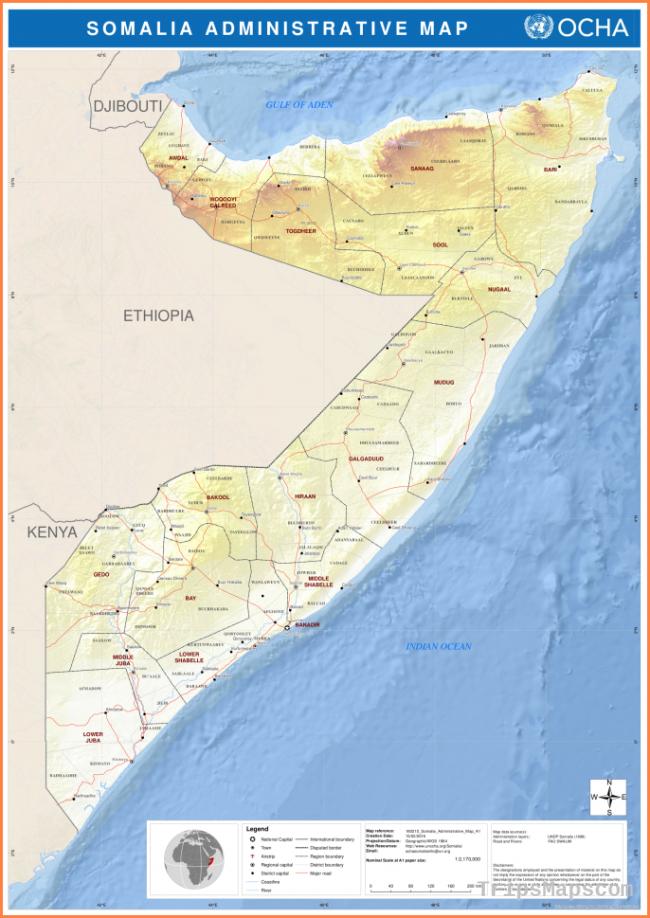 Somalia administrative map