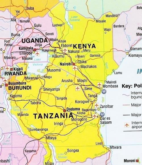Map of TANZANIA, AFRICA ile ilgili görsel sonucu