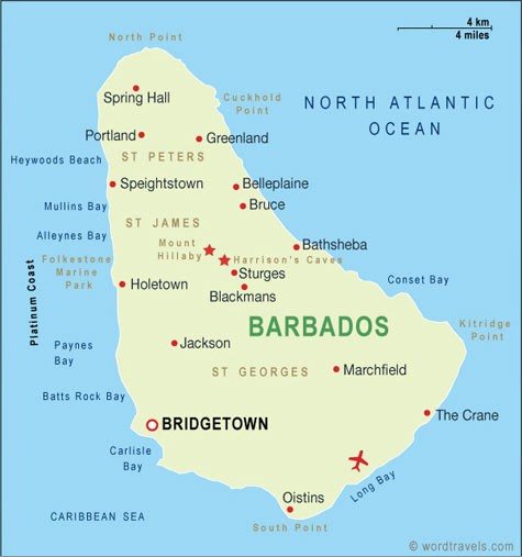 map of barbados travel to barbados1