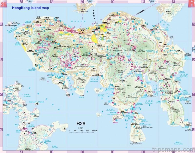 map of hong kong hong kong map 3