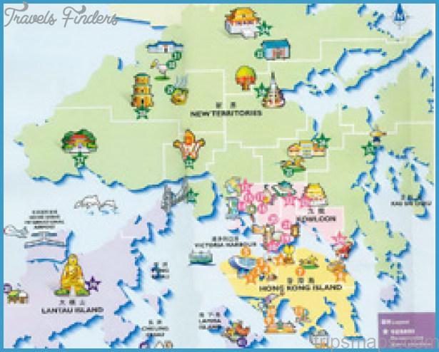 map of hong kong hong kong map tourist attractions 1