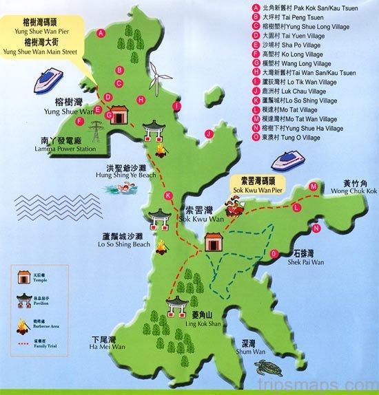 map of hong kong hung shing ye beach lamma island 1
