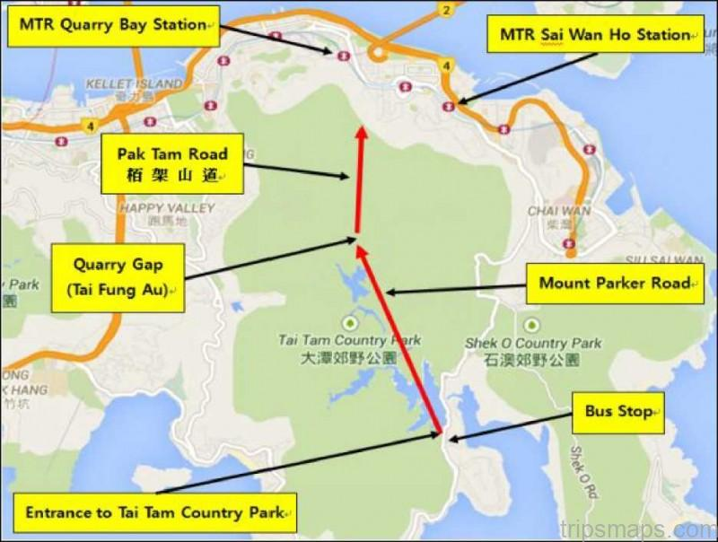 tai tam country park map the best park in hong kong china 11