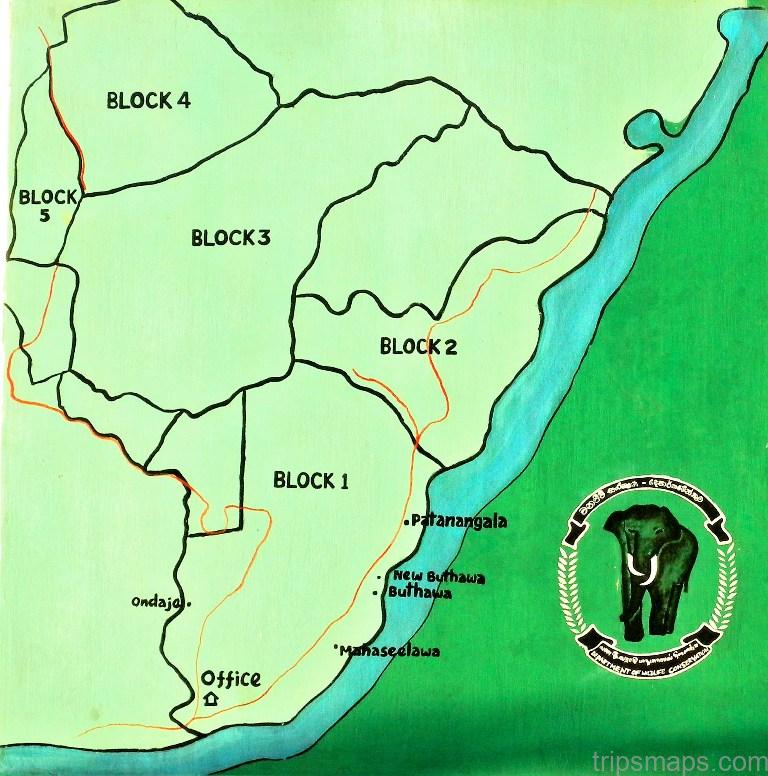 map of yala national park sri lanka 2