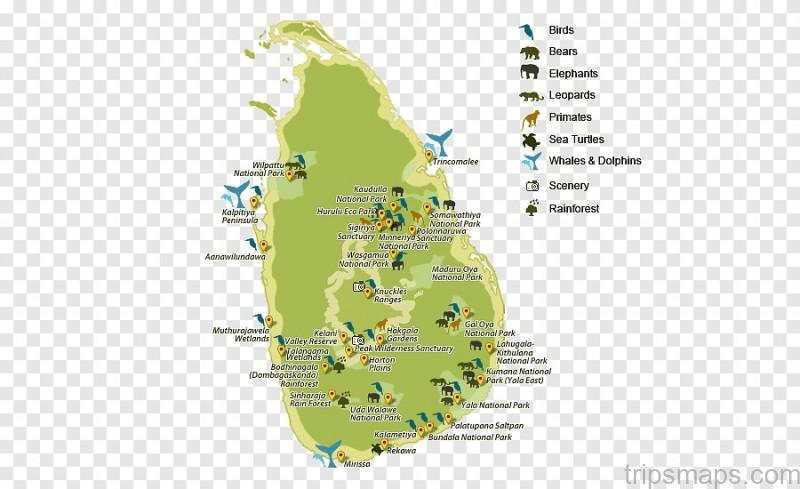 map of yala national park sri lanka 3
