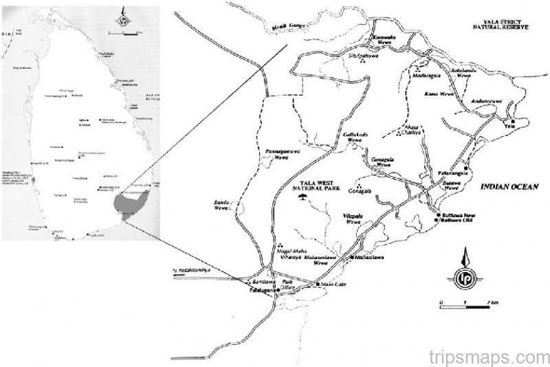 map of yala national park sri lanka 4